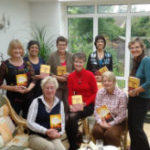 Barbara Mutch with a book group in London